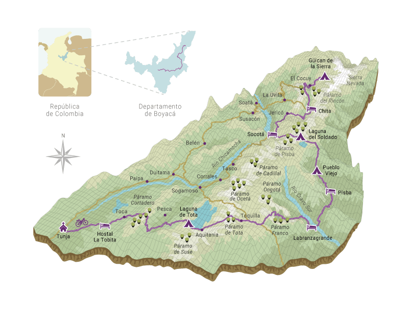 Foto mapa boyaca ruta livertadora monteadentro