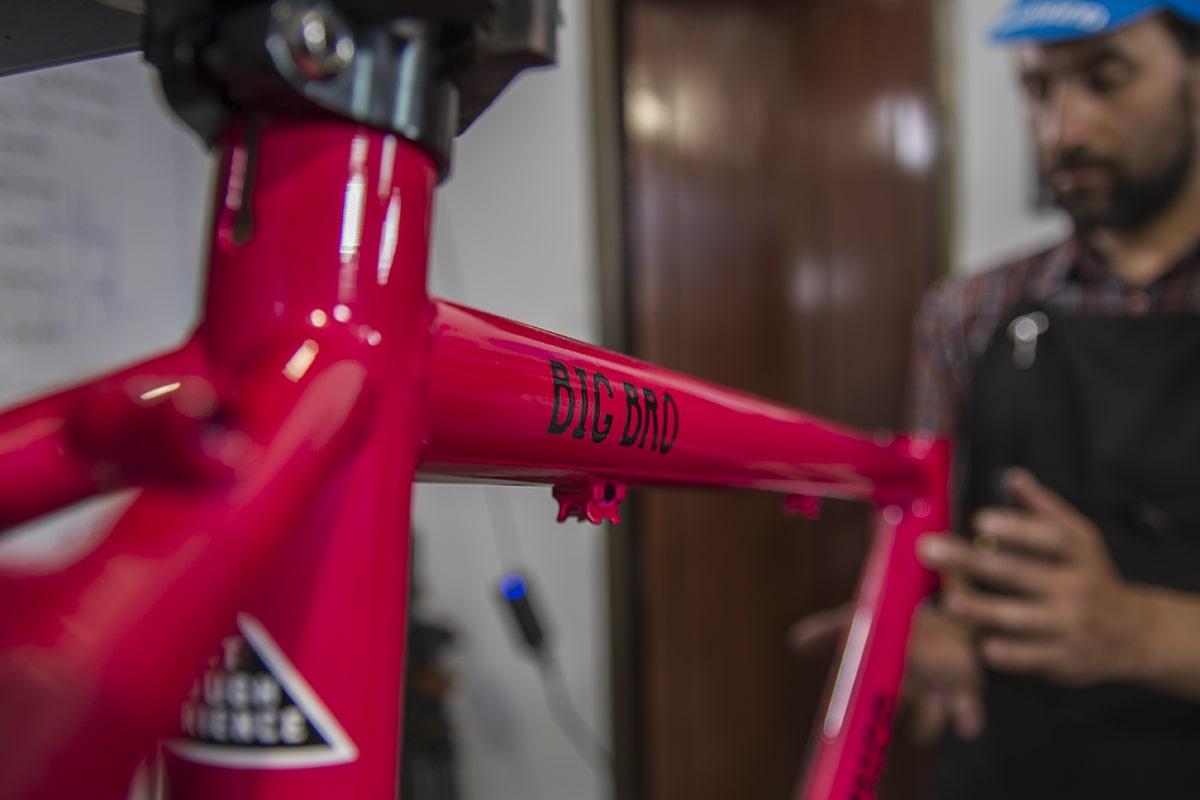 bike building cuadro para rodando los andes